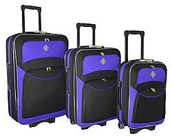 Валіза Bonro Style набір 3 штуки чорно-фіолетовий