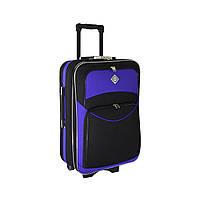 Чемодан Bonro Style (небольшой) черно-фиолетовый, фото 1