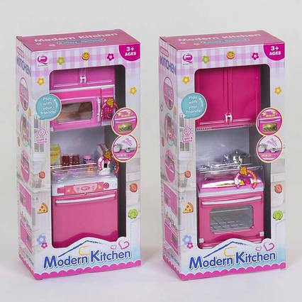 Кухня кукольная QF 26211 PW -1/2/3/4 (60/2) 2 вида, свет, звук, на батарейках, в коробке