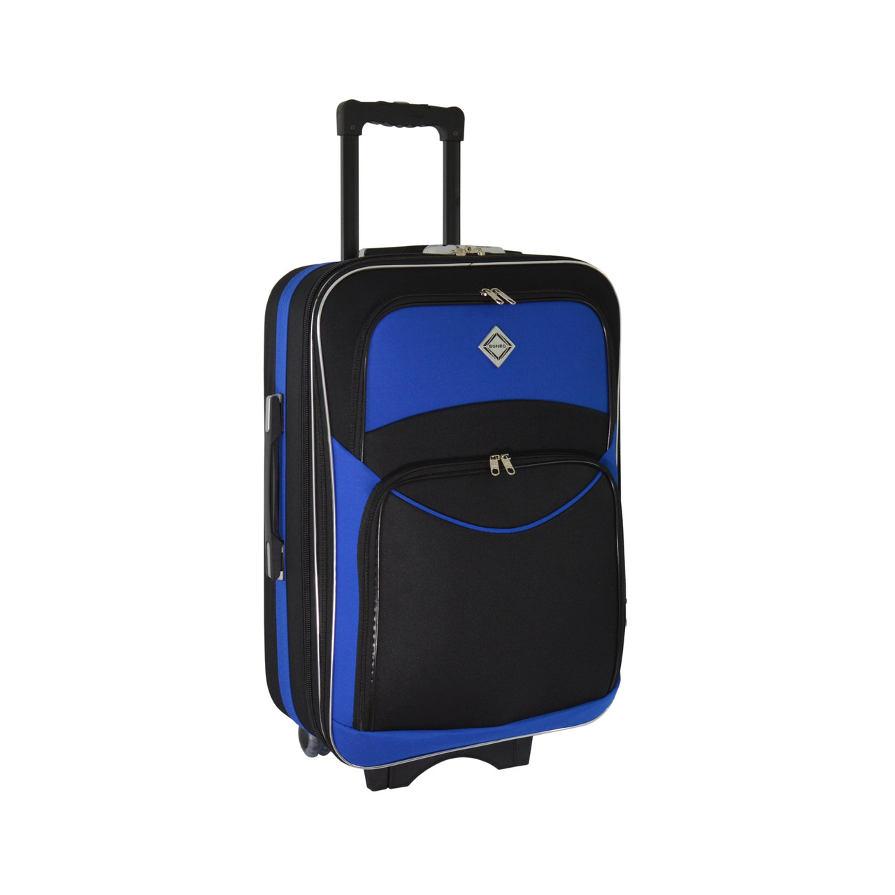Валіза Bonro Style (великий) чорно-синій