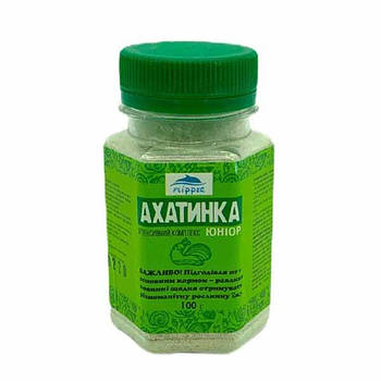 Подкормка АХАТИНКА юниор для улиток, 100 гр