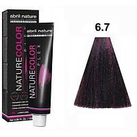 Безаміачна крем-фарба для волосся Abril et Nature Nature Color Plex 6.7 Темно-русявий фіолетовий 120 мл