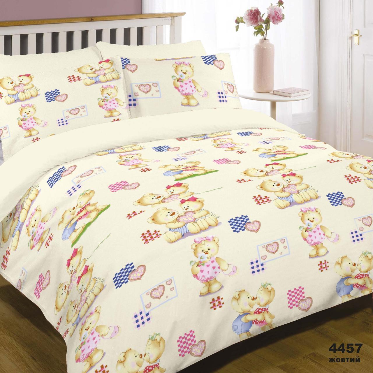 Комплект постельного белья детский ранфорс 4457 желтый ТМ Вилюта