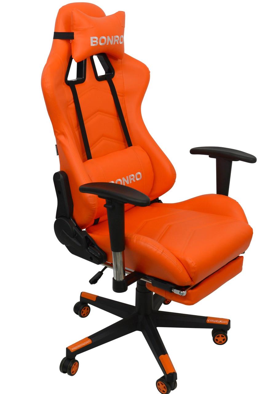 Кресло геймерское Bonro 2007-1 оранжевое