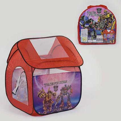 Палатка детская Трансформеры 8009 TF (48/2) 112х102х114 см, в сумке