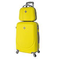 Комплект чемодан + кейс Bonro Smile (большой) желтый, фото 1