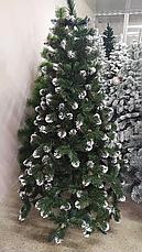 Елка искуственная Королева Лидия с белыми кончиками ПВХ 1.8м (180см) Штучна ялинка Ялынка штучка Елка пвх, фото 2