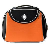 Сумка кейс саквояж Bonro Style (небольшой) черно-оранжевый, фото 1