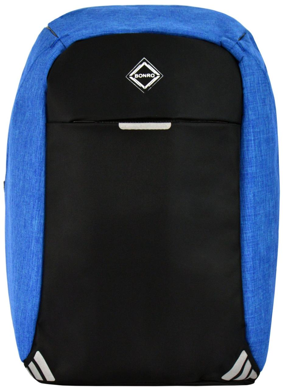 Рюкзак антивор Bonro с USB 20 л голубой