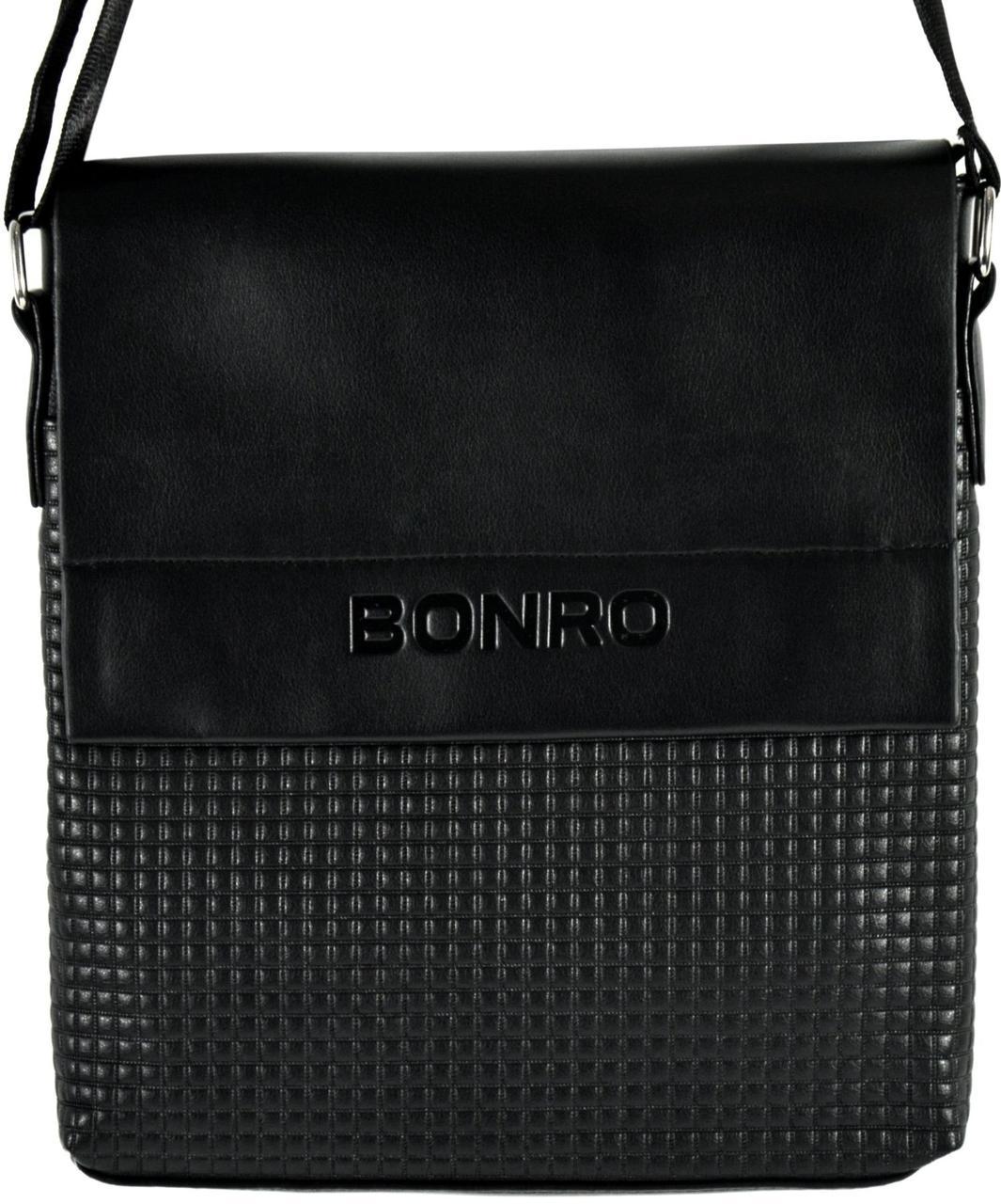 Сумка мужская Bonro через плечо черная Model 3