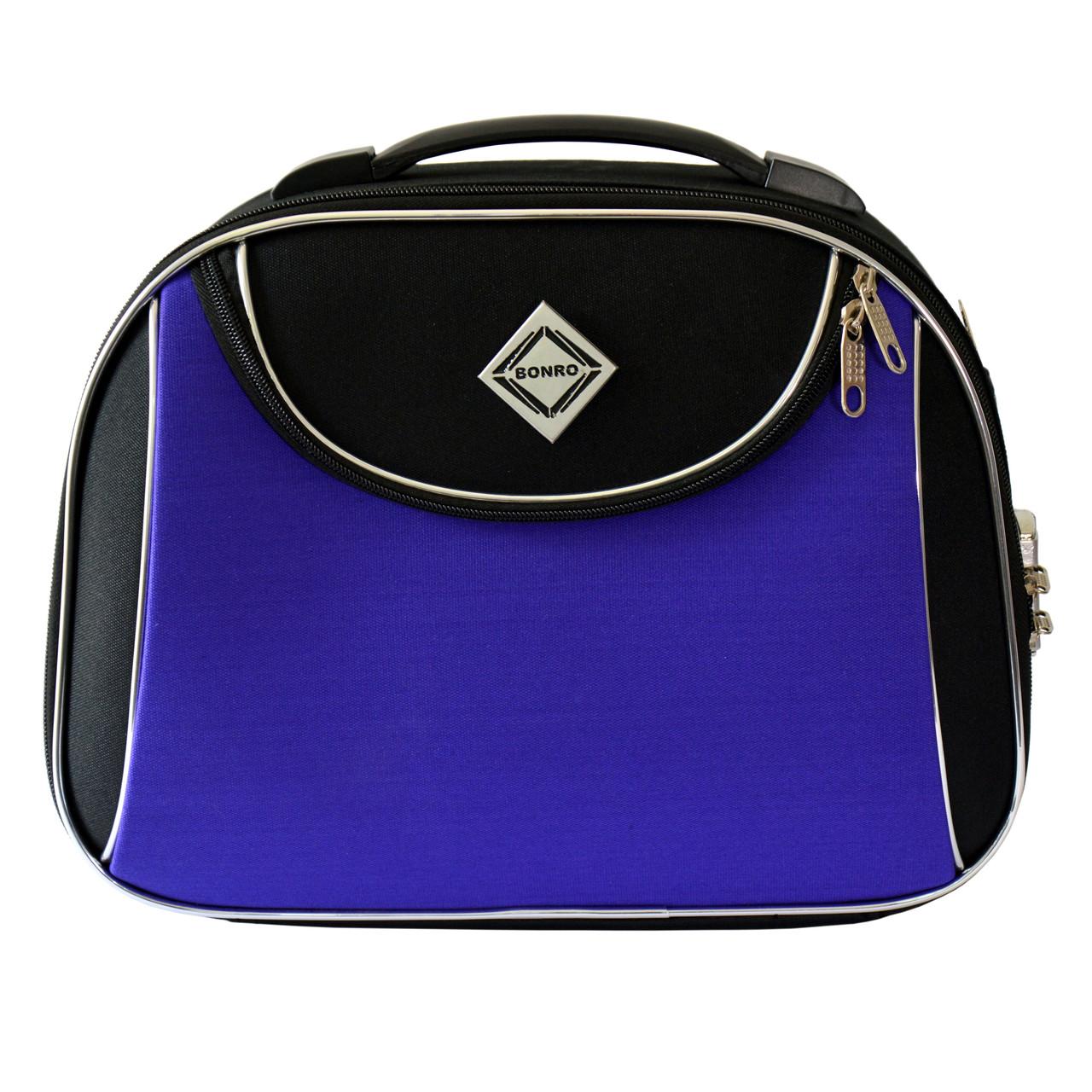 Сумка кейс саквояж Bonro Style (средний) черно-фиолетовый
