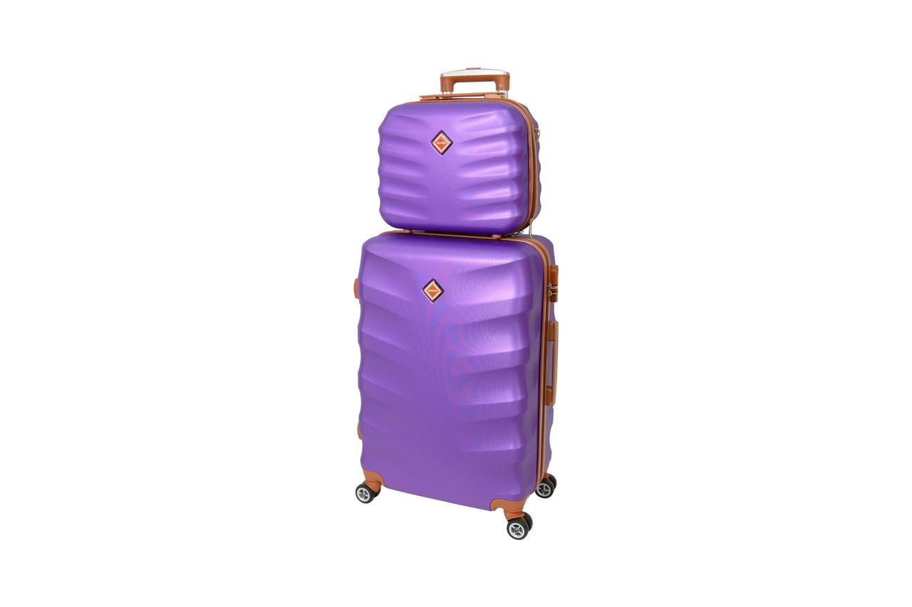 Комплект чемодан + кейс Bonro Next (средний) фиолетовый