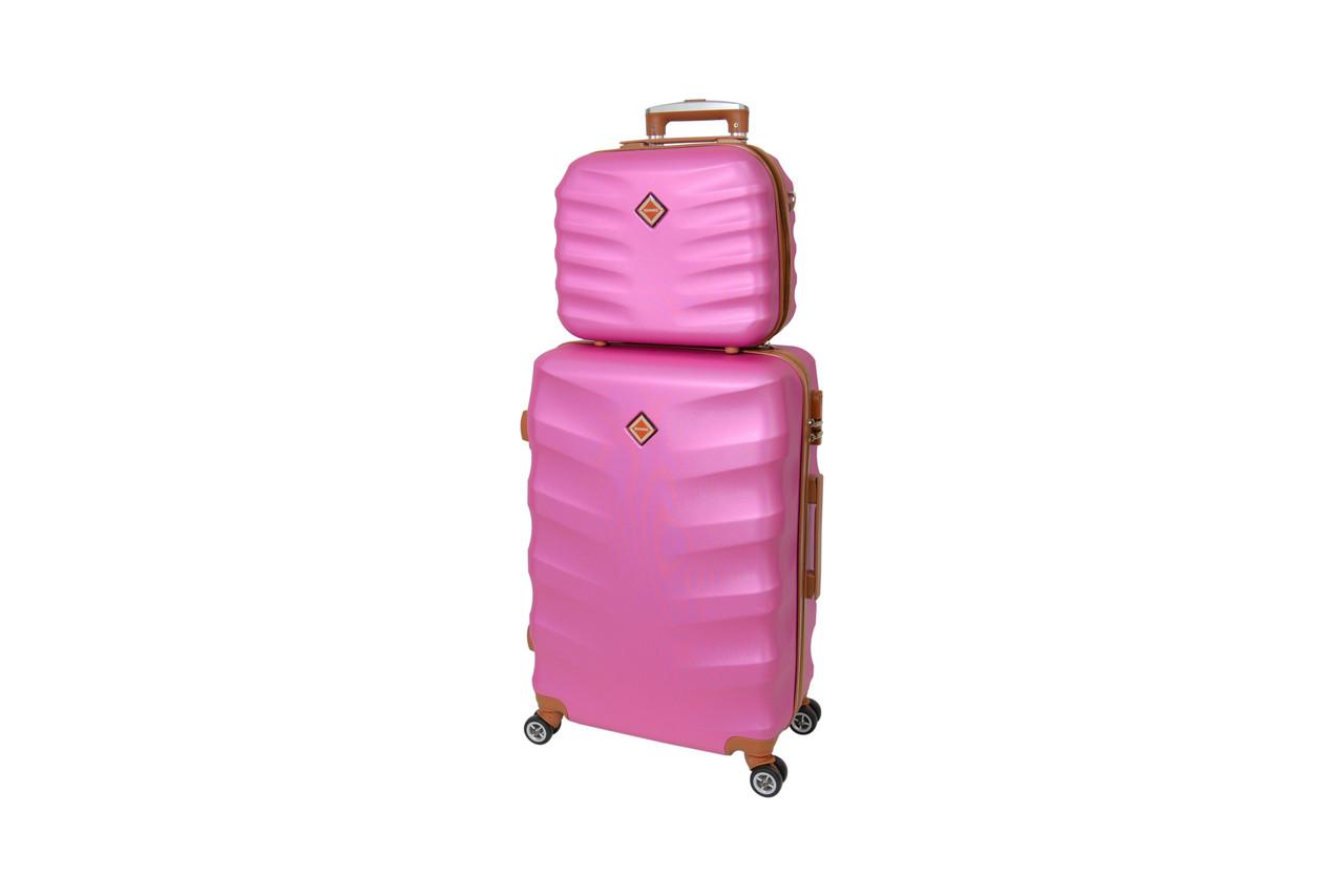 Комплект чемодан + кейс Bonro Next (средний) розовый