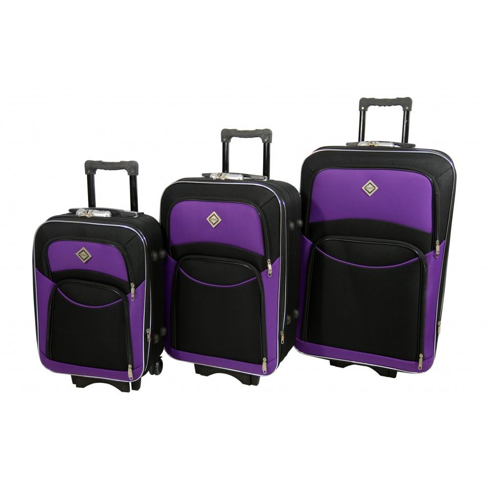 Чемодан Bonro Style набор 3 шт. черно-т. фиолетовый