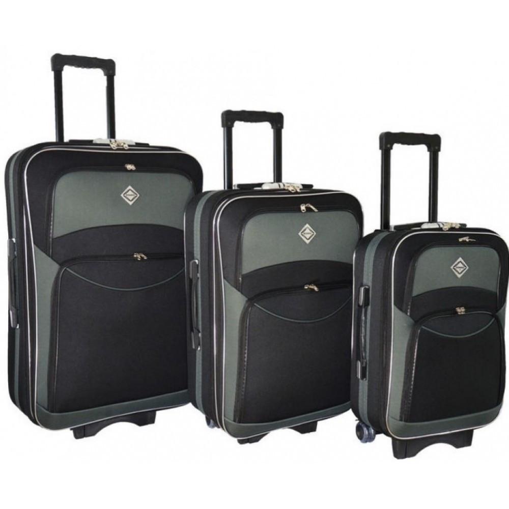 Чемодан Bonro Style набор 3 шт. черно-серый