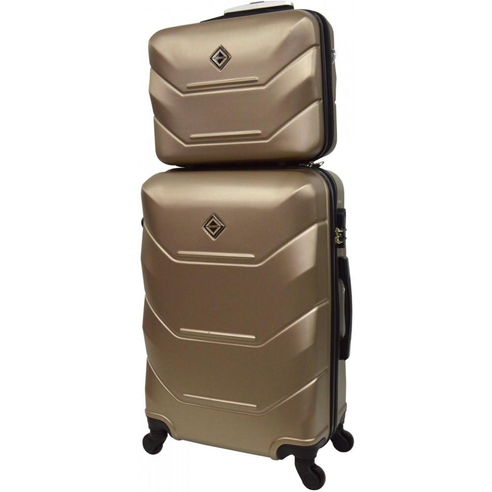 Комплект чемодан + кейс Bonro 2019 (средний) шампань