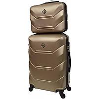Комплект чемодан + кейс Bonro 2019 (средний) шампань, фото 1