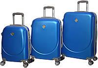 Чемодан Bonro Smile с двойными колесами набор 3 шт. голубой, фото 1