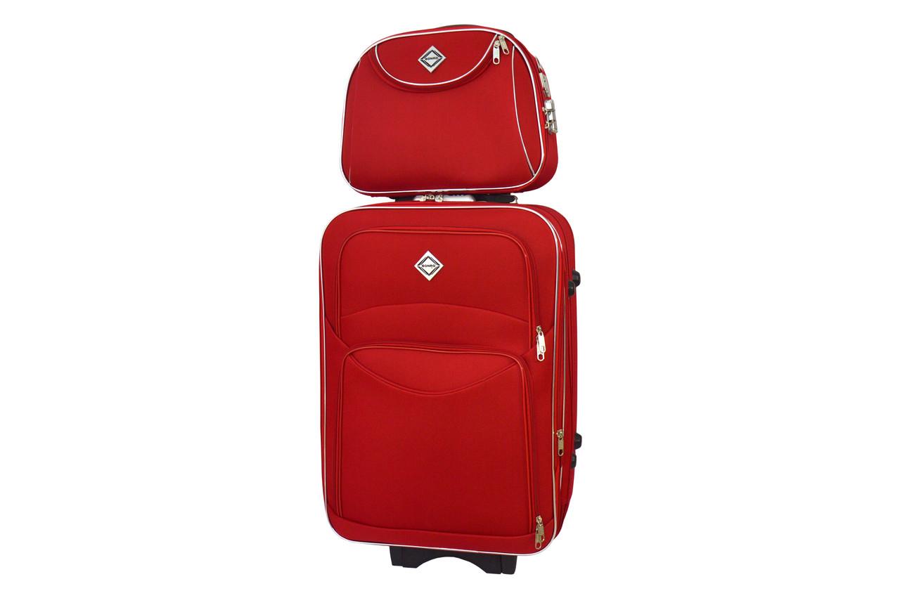 Комплект чемодан + кейс Bonro Style (средний) красный