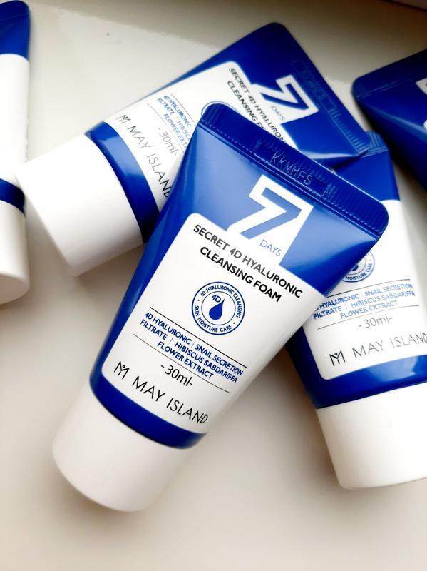 Очищающая пенка с гиалуроновой кислотой May Island 7Days Secret 4D Hyaluronic Cleansing Foam