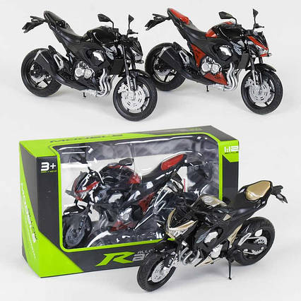 Мотоцикл металлопластик НХ 798-1 (144/4) 3 цвета, 1шт в коробке