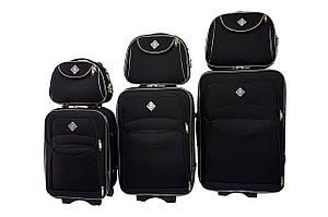 Набор чемоданов и кейс 4в1 Bonro Style черный