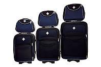 Набор чемоданов и кейс 4в1 Bonro Style черно-т. синий, фото 1
