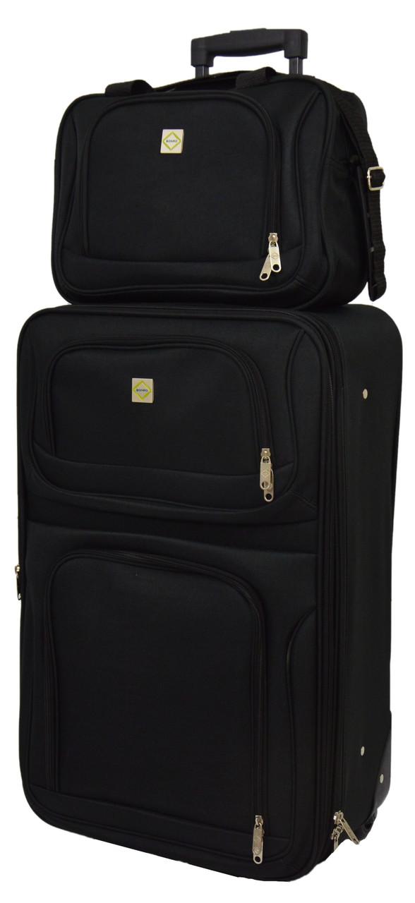 Комплект чемодан + сумка Bonro Best небольшой черный