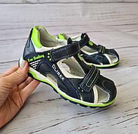 Обувь для мальчиков, Кожаные ортопедические босоножки Clibee (Польша)