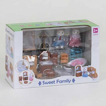"""Набор мебели для ванной комнаты 1604 F """"Счастливая семья"""" (12) 30 элементов, 2 флоксовых героя, мебель,"""