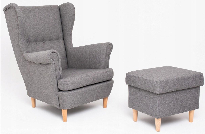 Кресло USZAK в скандинавском стиле с подножкой для ног