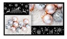 """Конверт для грошей новорічний """"З Новим роком та Різдвом Хрістовим!"""" Укр (Черный)"""