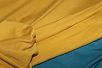 Горчица. С начесом.Ткань вискоза трикотажная стрейчевая, ( теплые водолазки) (1,50м)