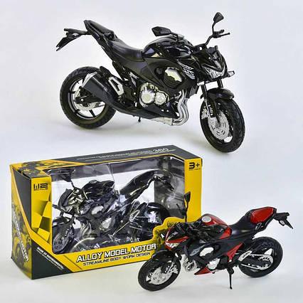 Мотоцикл металлопластик НХ 789-1 (144) 2 цвета, в коробке