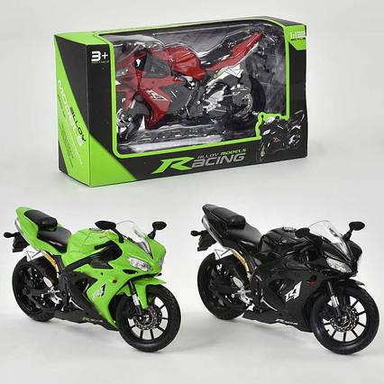 Мотоцикл металлопластик НХ 794-1 (144/4) 3 цвета, в коробке