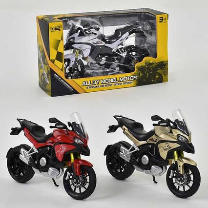 Мотоцикл металлопластик НХ 795 (144/2) 3 цвета, в коробке
