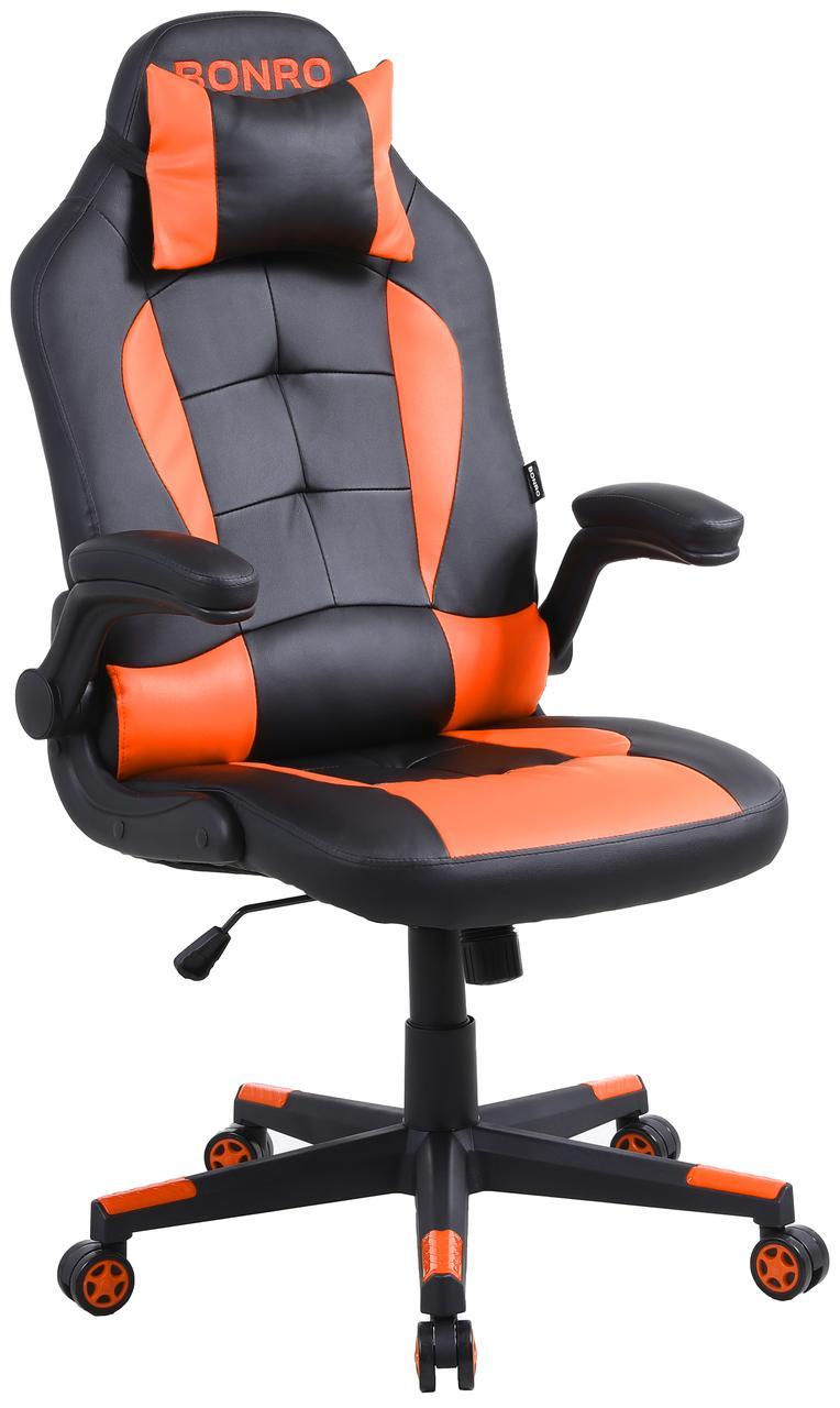 Кресло геймерское Bonro B-office 1 оранжевое