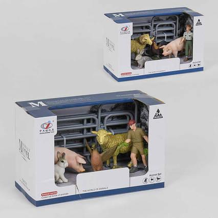 Ферма Q 9899 -X16 (48/2) 2 види, домашні тварини, в коробці