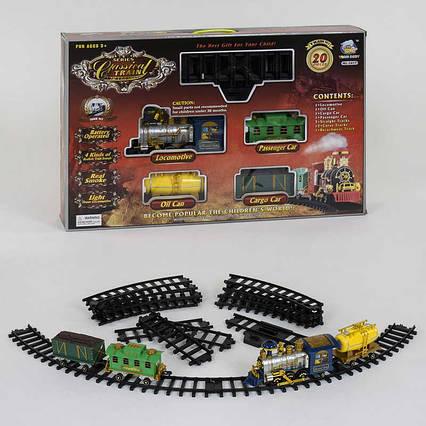 Железная дорога 2417 (8) световые и звуковые эффекты, дым, 20 деталей, в коробке
