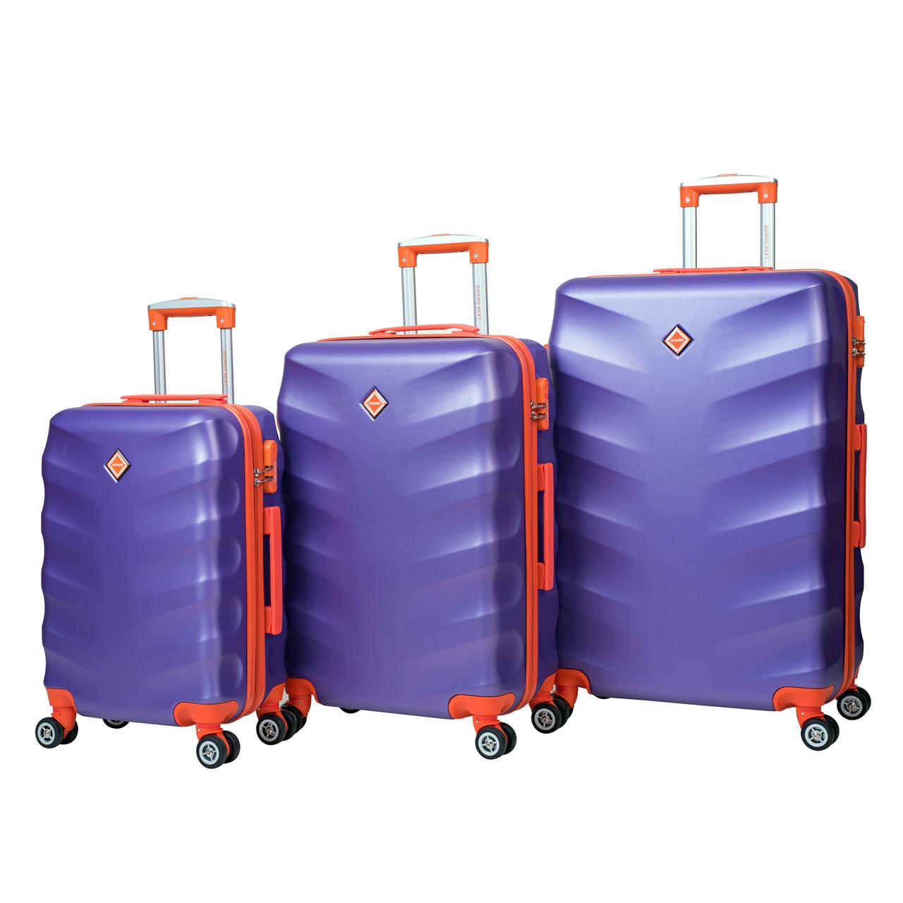 Чемодан Bonro Next набор 3 шт. фиолетовый