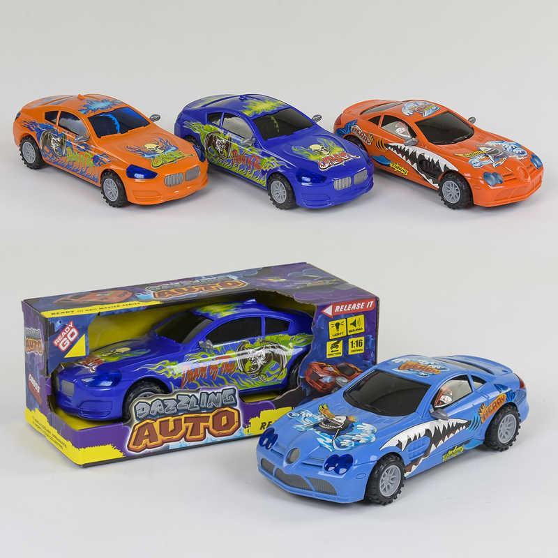 Машинка 1400 А / 2300 А (72/2) 4 види, інерція, світло фар, звук, в коробці