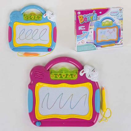 Досточка для рисования 262-8 В (48/2) ЦВЕТНАЯ, 2 цвета, со звуковыми эффектами, в коробке