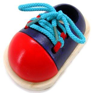 Шнуровка ботинки деревянные