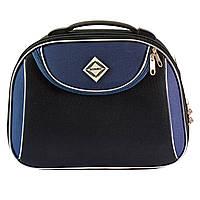 Сумка кейс саквояж Bonro Style (большой) черно-т. синий, фото 1