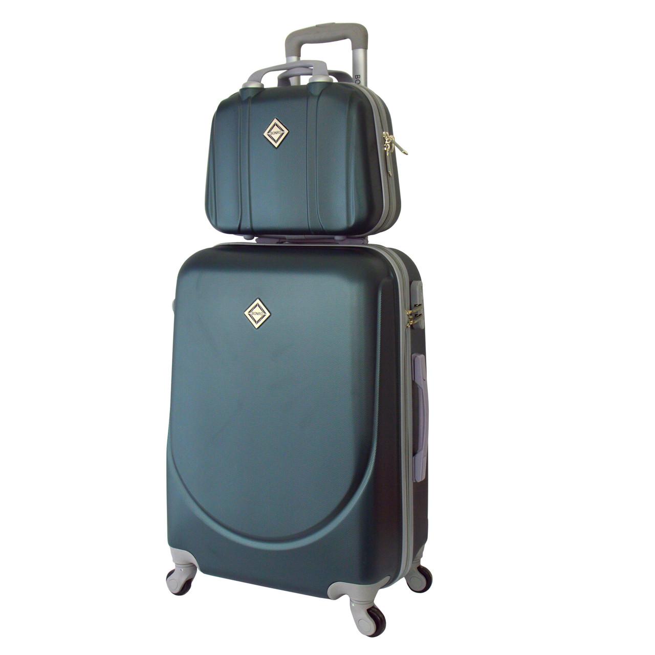 Комплект чемодан + кейс Bonro Smile (небольшой) изумрудный