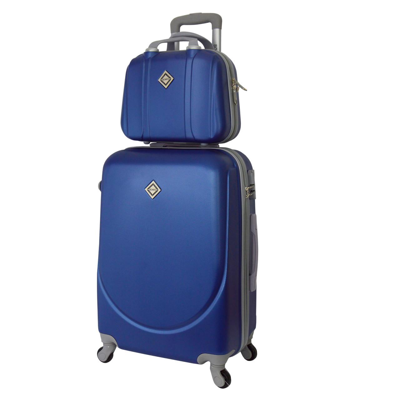 Комплект чемодан + кейс Bonro Smile (небольшой) синий