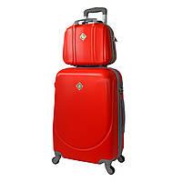 Комплект чемодан + кейс Bonro Smile (небольшой) красный, фото 1