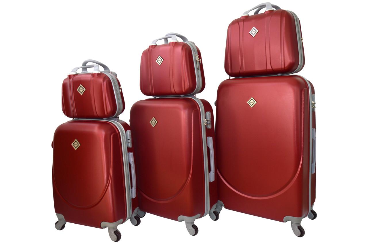 Набор чемоданов и кейсов 6в1 Bonro Smile бордовый