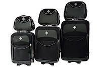Набор чемоданов и кейс 4в1 Bonro Style черно-серый, фото 1