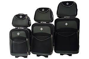 Набор чемоданов и кейс 4в1 Bonro Style черно-серый